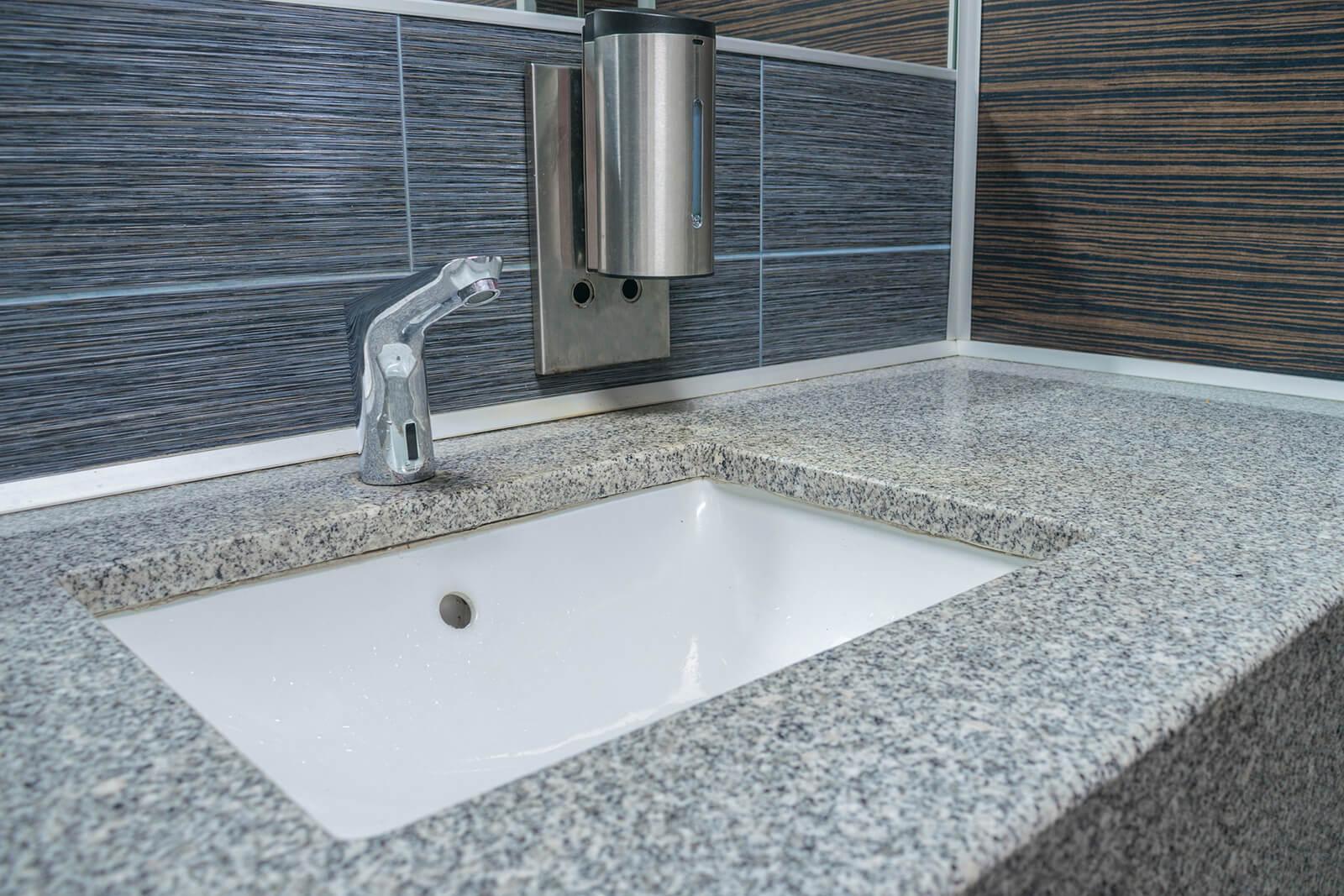 sink in public restroom