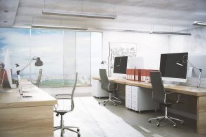 Clean and bright office space
